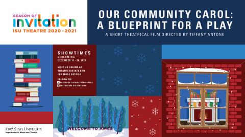 Poster for Our Community Carol: A Blueprint for a Play.