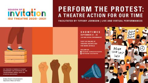 Poster for Perform the Protest: A Theatre Action for Our Time.