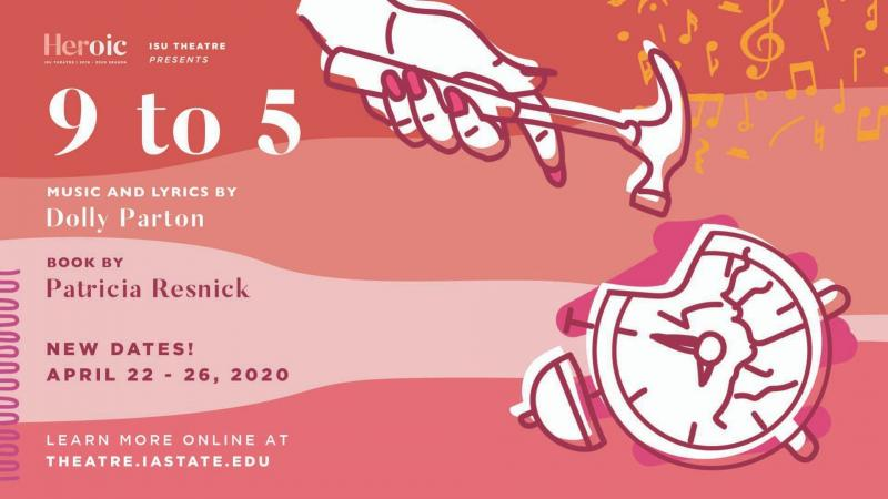Poster for POSTPONED: 9 to 5 The Musical.