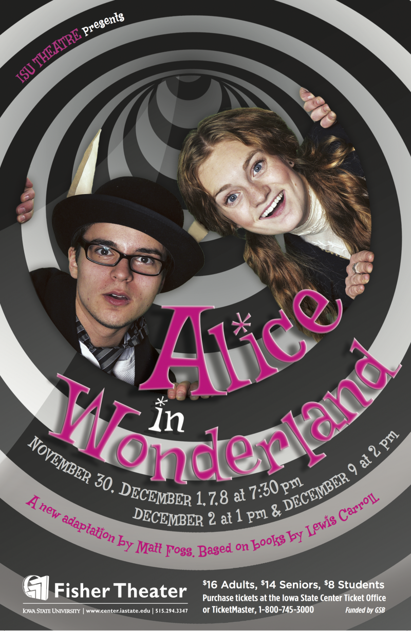Poster for Alice in Wonderland.