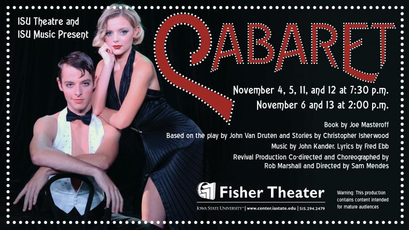 Poster for Cabaret.