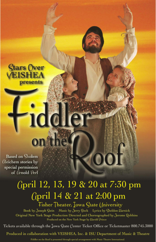 Poster for Fiddler on the Roof .