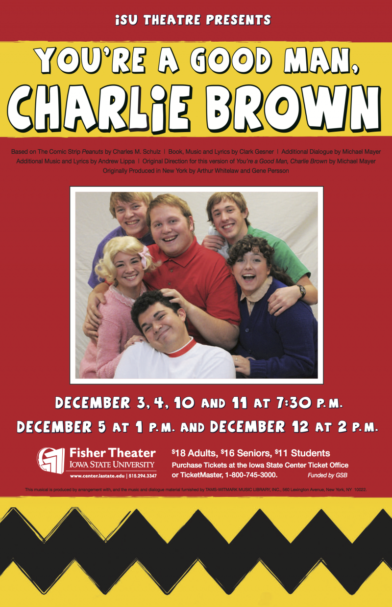 Poster for You're a Good Man, Charlie Brown.