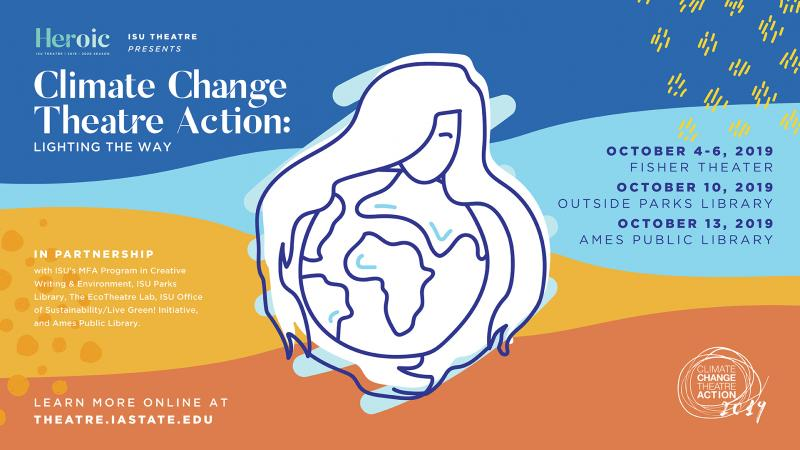 Poster for Climate Change Theatre Action: Lighting the Way.