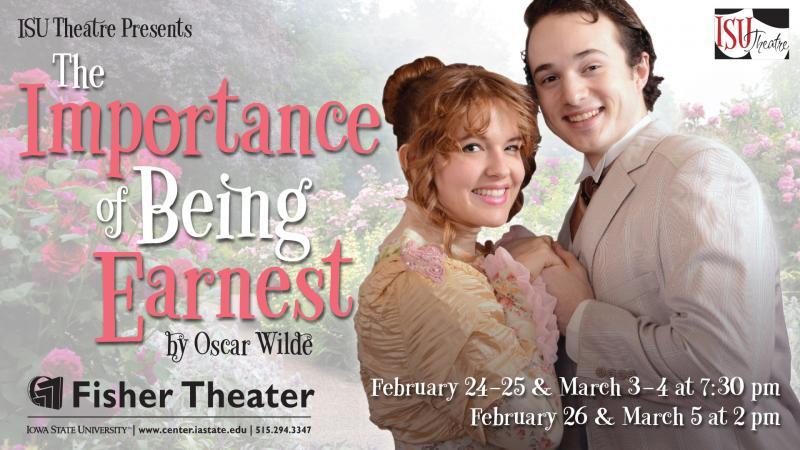 Poster for The Importance of Being Earnest.