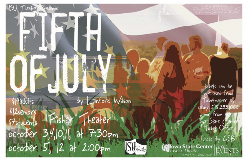 Poster for Fifth of July.