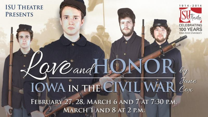 Poster for Love and Honor: Iowa in the Civil War 2015.