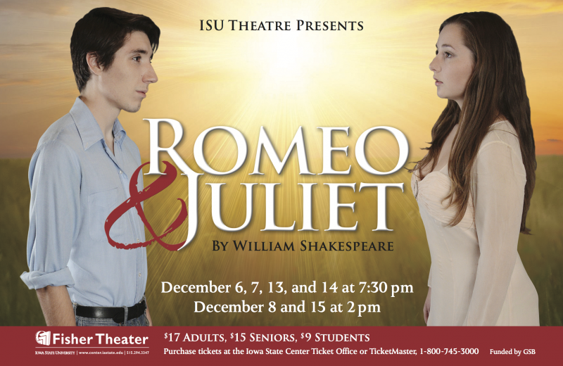 Poster for Romeo and Juliet.