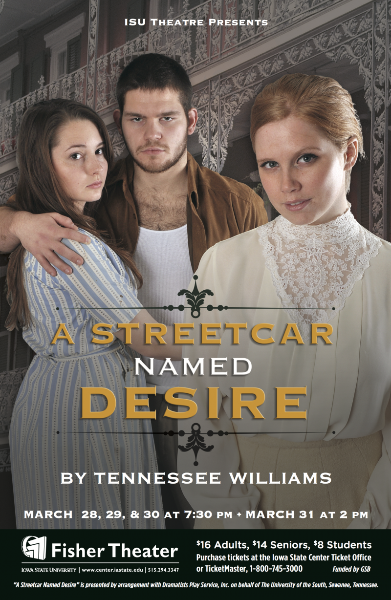 Poster for A Streetcar Named Desire.