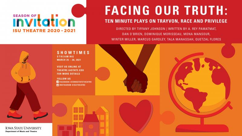 Poster for Facing Our Truth: Ten Minute Plays on Trayvon, Race and Privilege.
