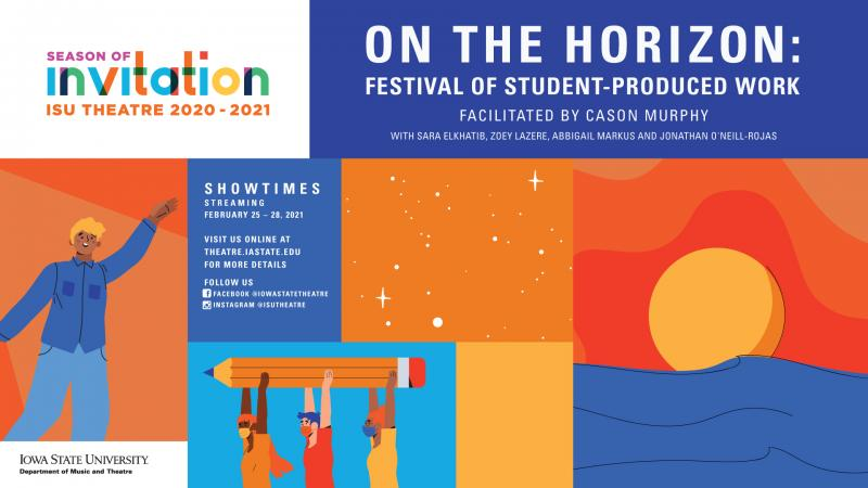 Poster for On the Horizon: Festival of Student-Produced Work.