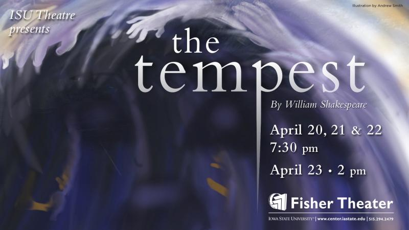 Poster for The Tempest.
