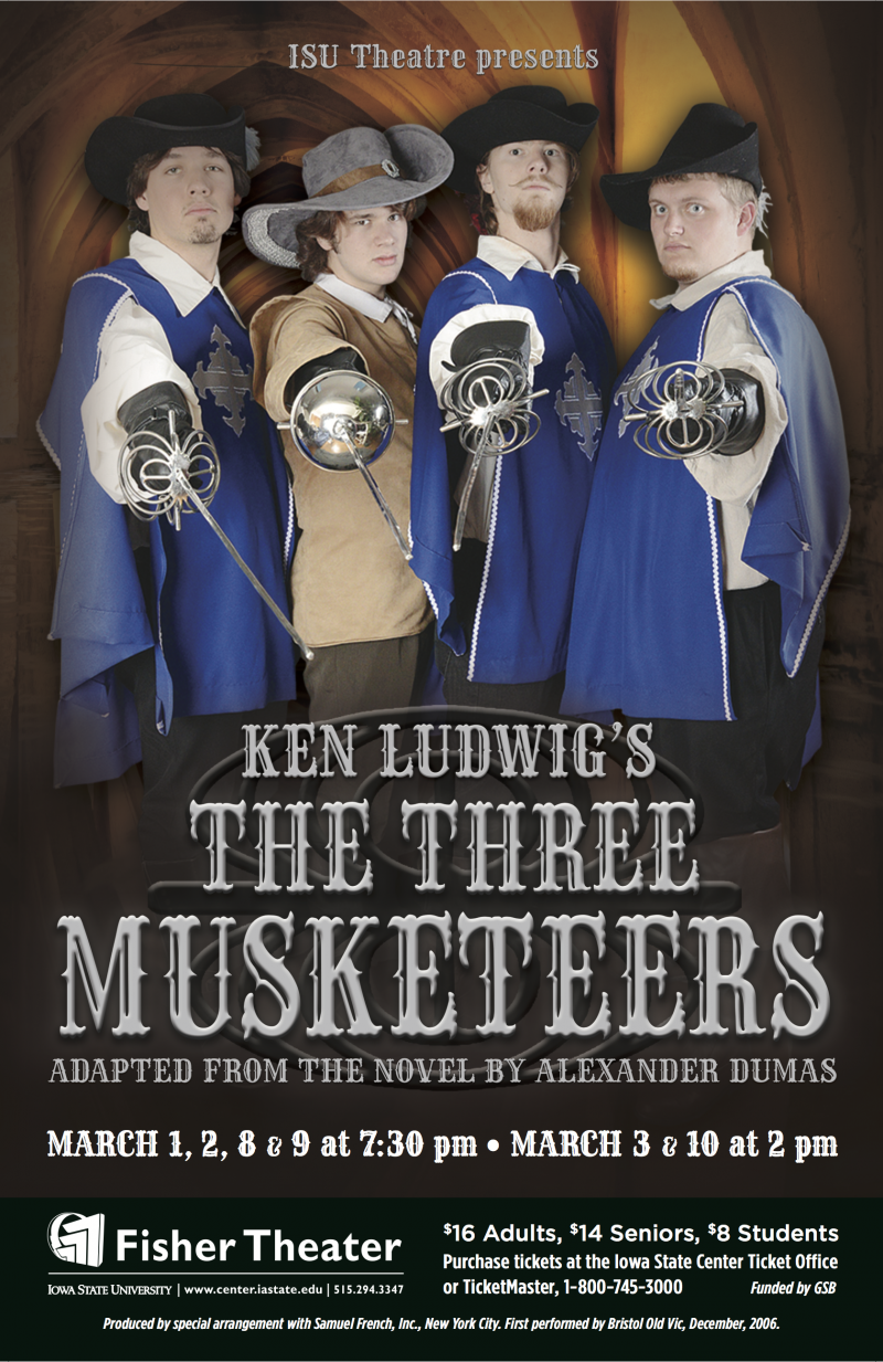 Poster for The Three Musketeers.