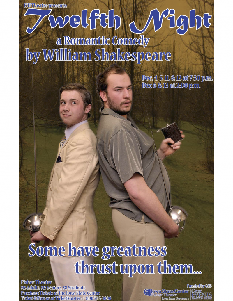 Poster for Twelfth Night.