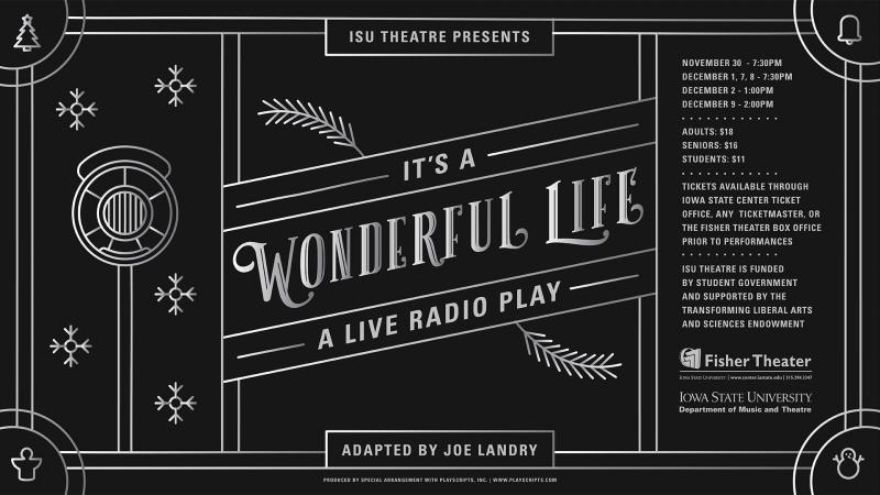 Poster for It's a Wonderful Life: A Live Radio Play.